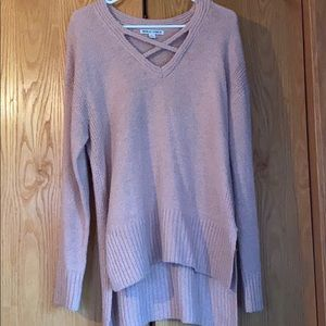 Large high low pink sweater